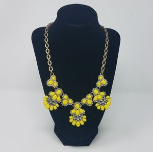 J. Crew Yellow Floral Necklace